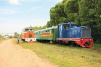 Excursion on the active narrow-gauge railway